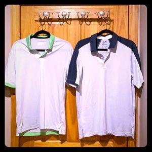 (2) New Golf Shirts Nike and Adidas